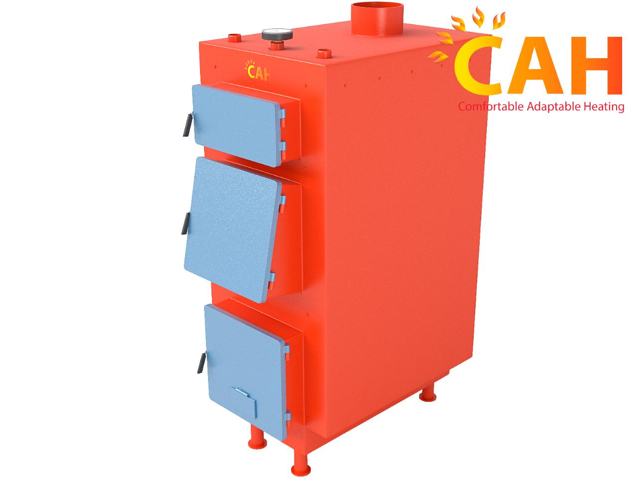 Котлы твердотопливные САН ЭКО-У 25 кВт (4 мм) с ручной регулировкой подачи воздуха
