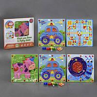 Деревянная игра Лабиринт с красочным оформлением, на магнитах, 14 видов