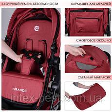 Универсальная коляска El Camino Grande (ME 1006-3) Красная, фото 3