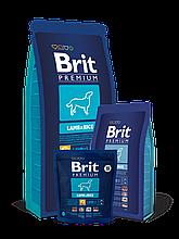 Корм Brit Premium (Брит Преміум) Dog Lamb Rice для собак з чутливим травленням, 1 кг
