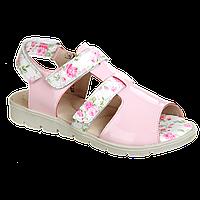 Сандали для девочки Розовые в  цветочек