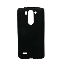 Чехол накладка на LG G3S D724 силиконовый матовый, Черный
