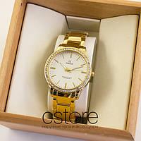 Женские наручные часы Omega gold white (06956)