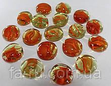 Камень декоративный, искусственный. Оранжевый