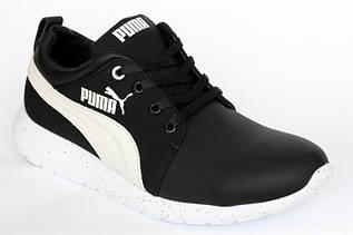 Демисезонные кроссовки Rec-Puma черн. кожа
