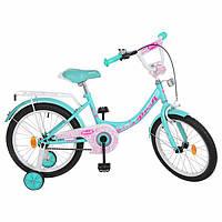 Велосипед детский PROF1 18д. Y1812  Princess,мята