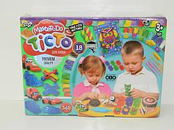 Тісто-пластилін набір з 18 кольорів з аксесуарами з аксессуарами Danko Toys