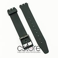 Силиконовый ремешок для часов Swatch 16x19мм black (07220)