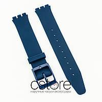 Силиконовый ремешок для часов Swatch 16x19мм dark blue (07221)
