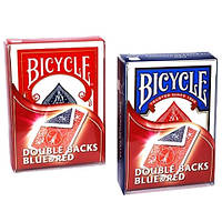 Трюковая колода Bicycle Double Back Blue/Red (двойная рубашка синяя/красная)