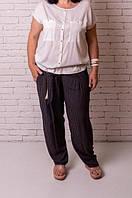"""Свободные женские штаны """"Глазки"""". Хорошее качество. Доступная цена. Дешево. Код: КГ3681"""