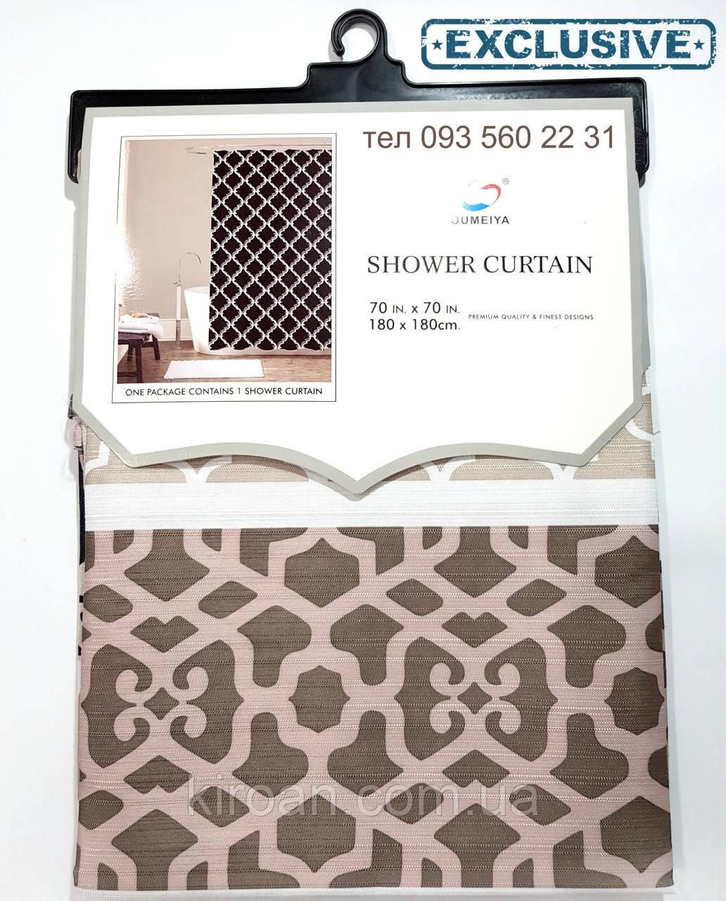 Штора в ванную Canvas Premium 178Х183 см Эксклюзив SC1920061 (коричневый с серым и черным)