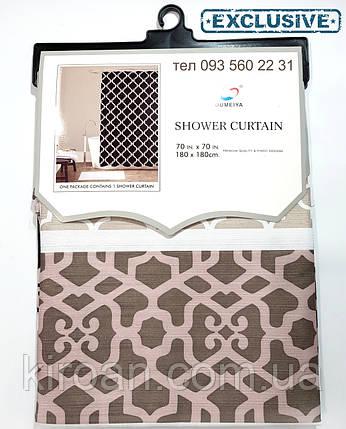 Штора в ванную Canvas Premium 178Х183 см Эксклюзив SC1920061 (коричневый с серым и черным), фото 2