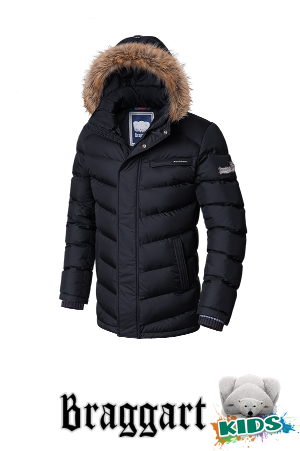 Зимняя куртка на мальчика с мехом Braggart Kids (р. 34-40) арт. 6336