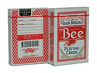 Карты покерные Bee с пчелой красные