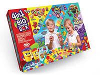 Набор 4 в 1: тесто для лепки, шариковый пластилин, масса для лепки, кинетический песок Danko Toys (BCRB-01-01)