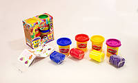 Тесто-пластилин в баночке набор 4 цвета Danko Toys