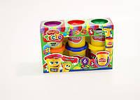 Тесто-пластилин в баночке набор 6 цветов Danko Toys (TMDB-01-01-01)