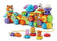 Интерактивная развивающая игрушка с шестиренками паровозик - зоопарк Vtech GearZooz Roll & Roa витеч 80-198900