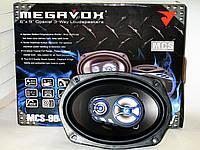 Колонки MEGAVOX MCS-9643SR (500 Вт), Автозвук, Динамики овалы 6x9 3х полосные, MCS-9643SR