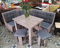 Кухонный уголок Маршал с простым,с раскладным столом и двумя табуретами