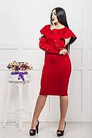 Красное женское платье вечернее ZANNA BREND с итальянского трикотажа, фото 1