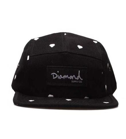 Кепка Diamond Supply Co Snapback Black, фото 1
