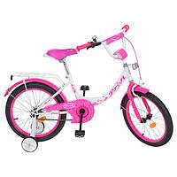 Велосипед детский PROF1 18д. Y1814 Princess,бело-малиновый