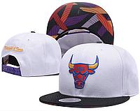 Кепка Mitchell & Ness NBA Chicago Bulls Snapback White/Black
