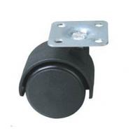 Опора колесная черная  50мм  без фиксатора (шт), фото 1