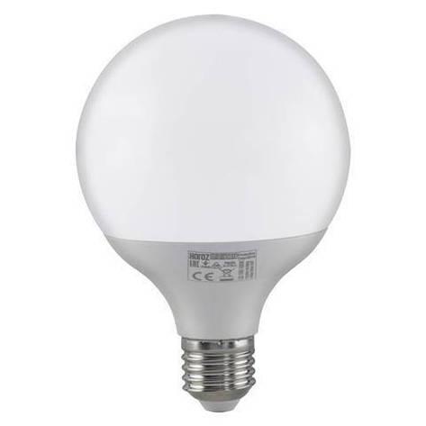 Led лампа Globe 16W E27 3000К Horoz Electric, фото 2