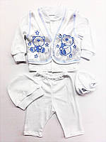 Нарядный костюм для новорожденных. На крестины, на выписку.