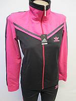 Женский спортивный костюм со вставкой яркого цвета, фото 1