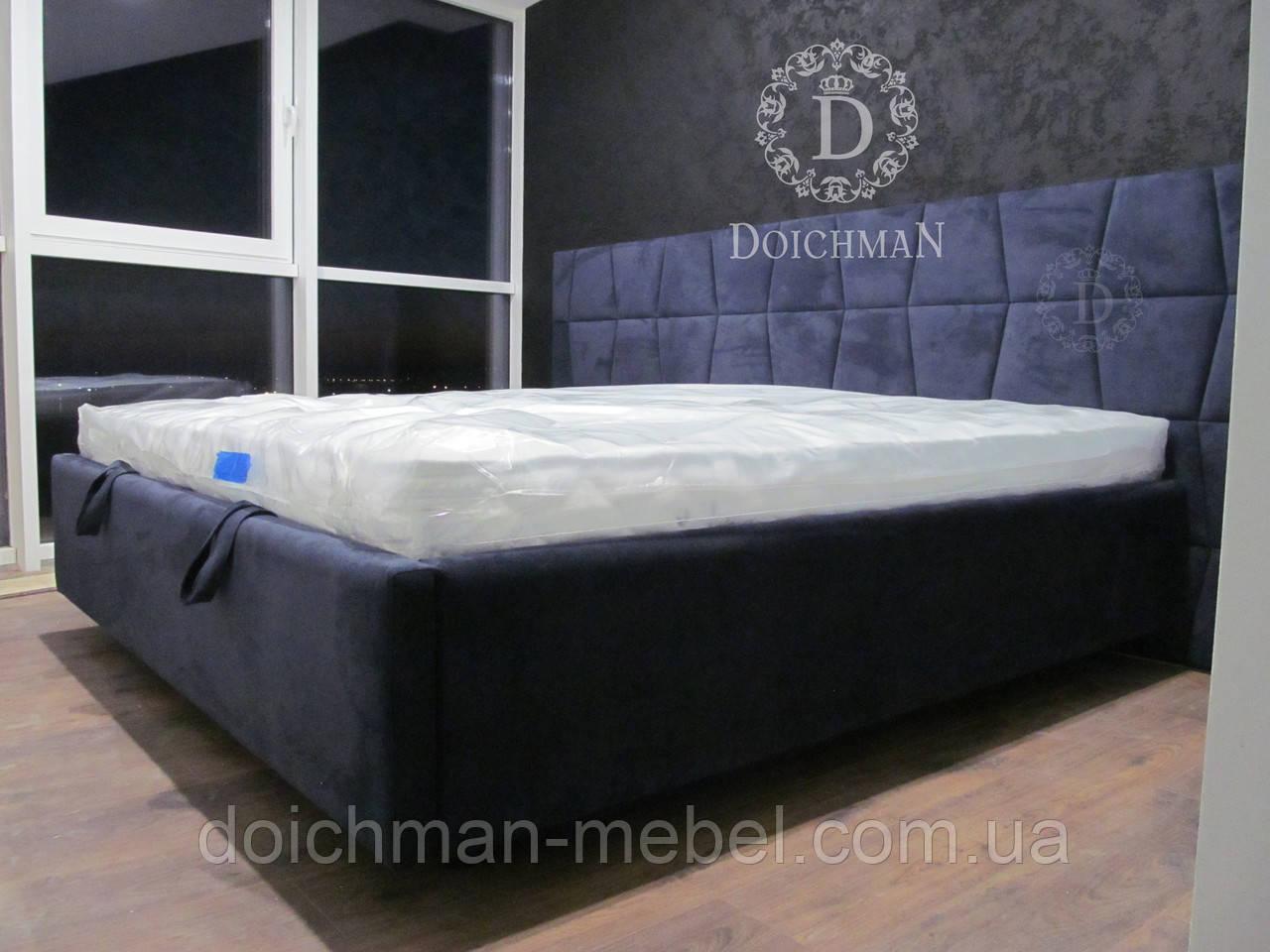 Современная кровать с панелями в виде трапеции, мягкая плитка трапеции