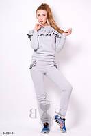 Симпатичный молодежный спортивный костюм из двунитки с воланами Madison