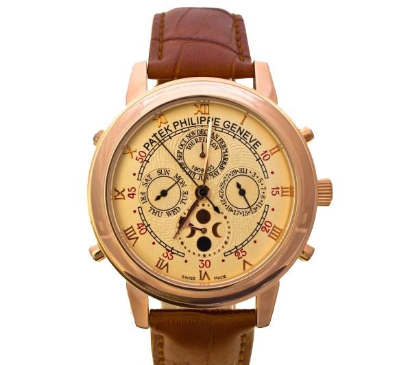 7f00a5ac Мужские наручные часы Patek Philippe Sky Moon Tourbillon на кожаном ремешке  - XLINE в Харькове