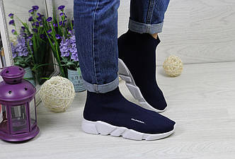 Кроссовки женские Balenciaga темно-синие