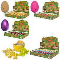 ЯЙЦО 9031-2-3-4B 3см, животное-растущее, 4 вида, 60шт(6цветов) в дисплее 29-18,5-4см, растущая игрушка