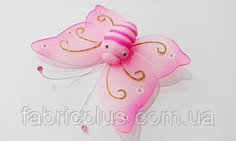 """Бабочка  """"Морячка""""  (на булавке)  розовая"""