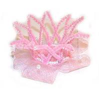 Заколка детская для девочки Корона розовая