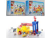 Гараж игрушечный 660-190-1-2, 2 этажа,машинка игрушка, набор для детей