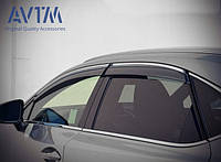 Дефлекторы окон (ветровики) Lexus NX 2014 - (с хром молдингом), кт. 4шт, 08611-78810, фото 1