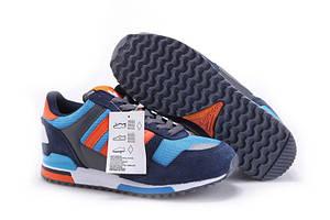 Кроссовки мужские Adidas ZX-700 Синие с оранжевым