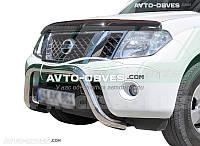 Кенгурятник без гриля Nissan Pathfinder 2010-2015 (Тамсан)