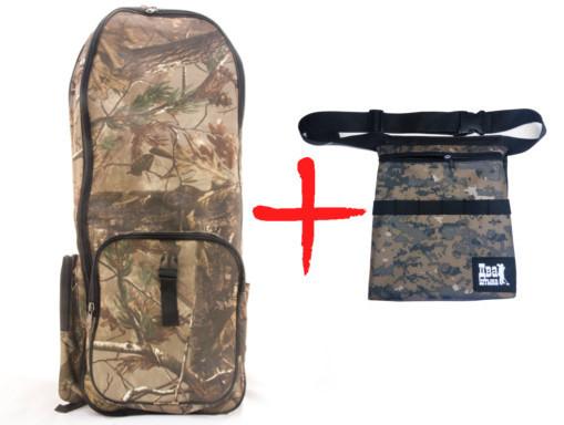Рюкзак для металлоискателя(Лес) + сумка для находок