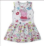 Трикотажное детское платье Свинка Пеппа