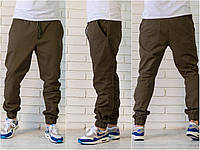Мужские  хлопковые брюки-джогеры