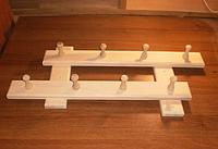 Вешалка деревянная 8 крючков (35х70см)