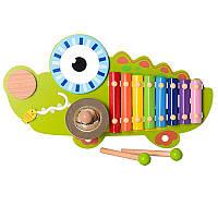 Деревянная игрушка ксилофон Крокодил MD 1057
