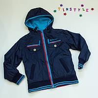 Двусторонняя куртка-ветровка деми на мальчика  (рост 104-110 см) 110 см